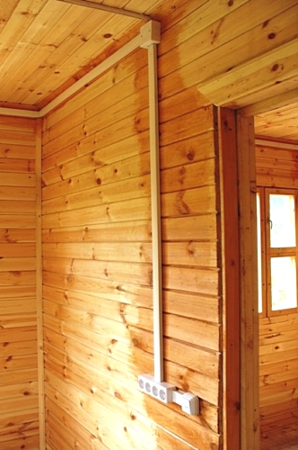 фото проводки в деревянном доме