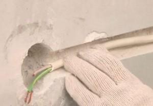 Поврежден кабель скрытой поводки